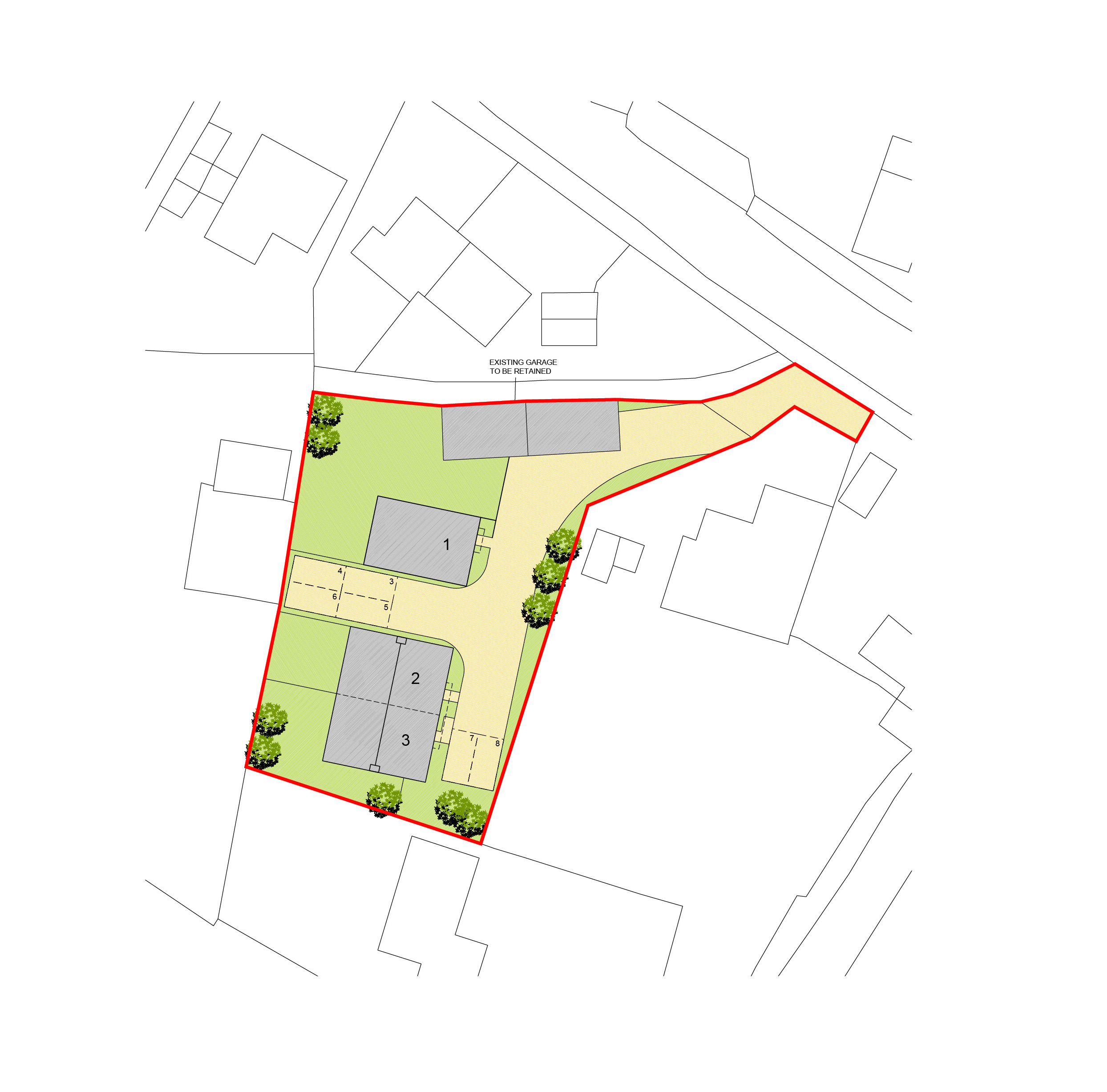 Shrewton Site layout